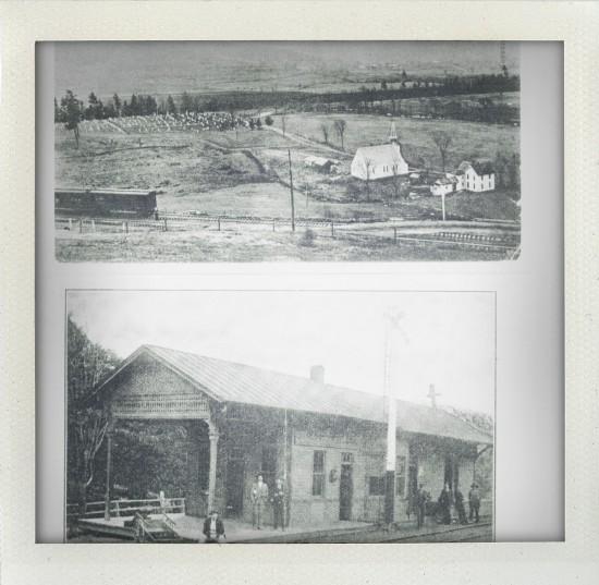 Railroad in Bloomville - towards Bramley Mountain