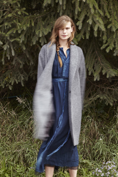 PAS DE CALAIS Double-Breasted Cocoon Coat / PAS DE CALAIS Belted Long Dress